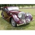 1946 Jaguar Mk IV oil painting