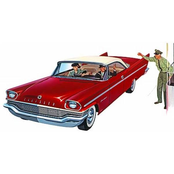 1957 Chrysler Saratoga oil painting