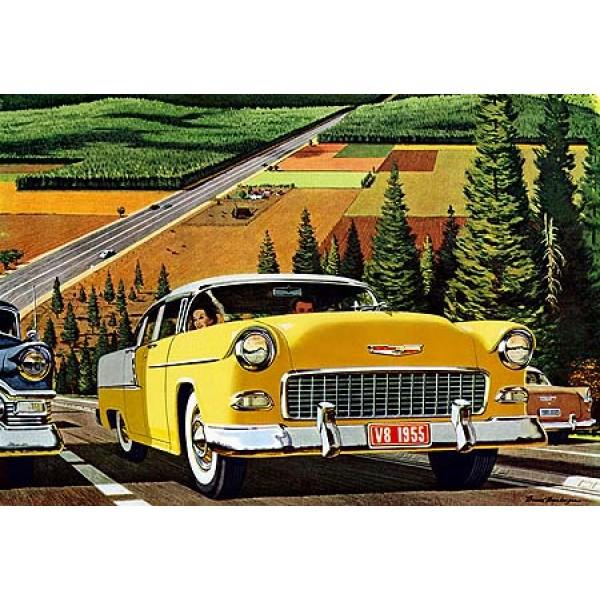 1955 Chevrolet oil painting