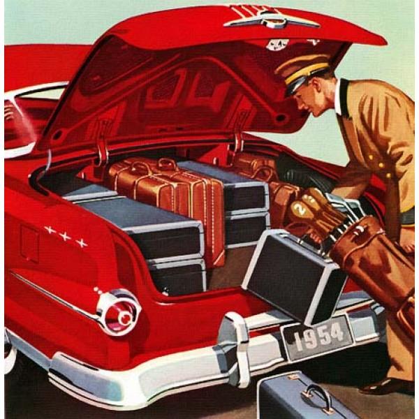 1954 Pontiac Star Chief Custom Catalina oil painting