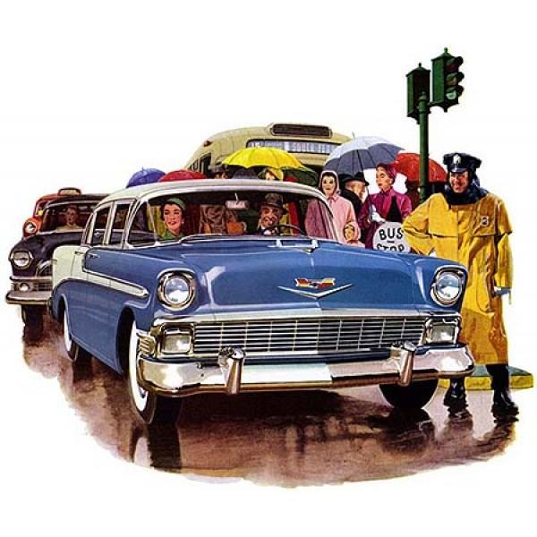 1956 Chevrolet oil painting