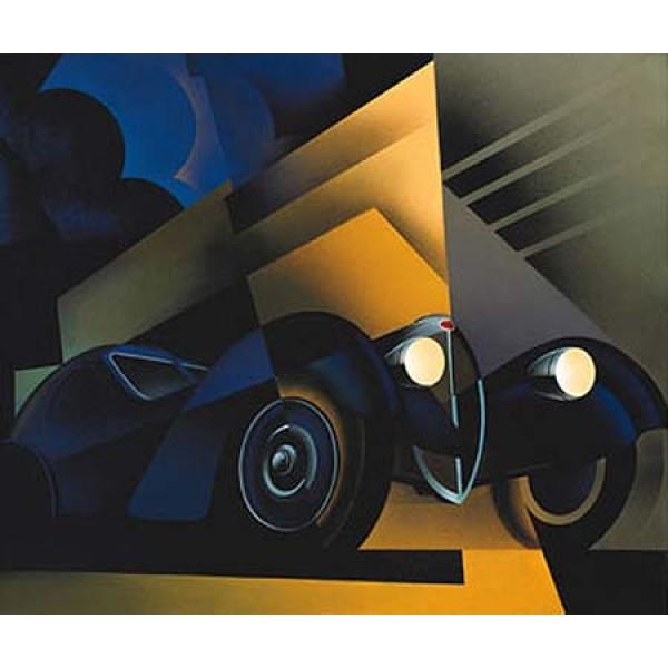 Bugatti oil painting