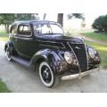 1937 Ford Tudor humpback Sedan 60 oil painting