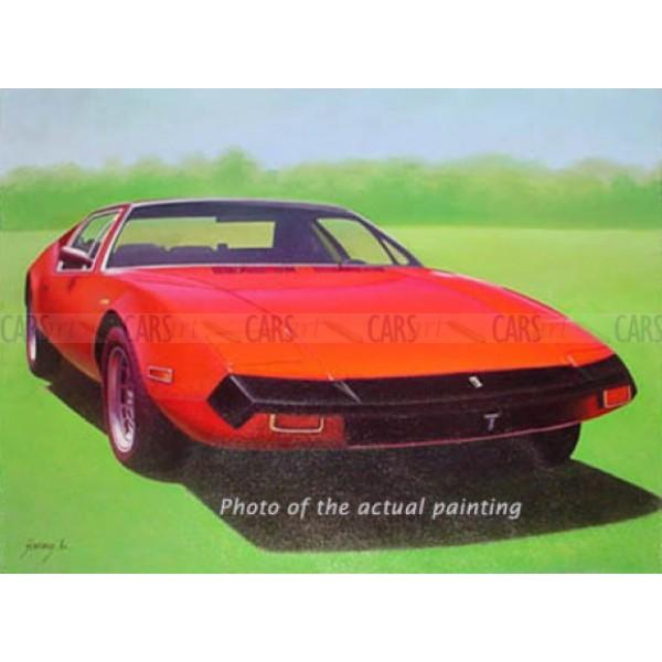 1974 DeTomaso Pantera oil painting