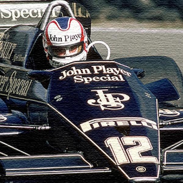 Nigel Mansell JPS Lotus oil painting