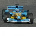Jarno Trulli Benetton Renault oil painting