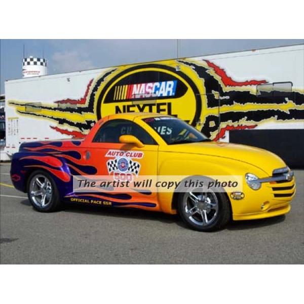 2005 Chevrolet SSR NASCAR Pace Car Oil Painting